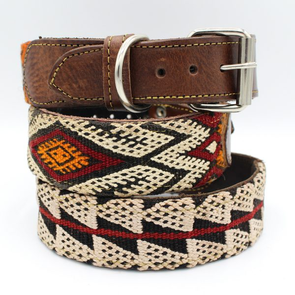 wide dog collars leather